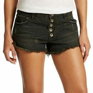 Free People Runaway' Cutoff Denim Shorts
